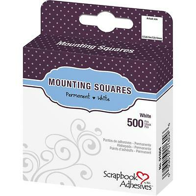 "3L Scrapbook Adhesives Mounting Squares White 1/2"" 500/box permanent"