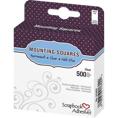 "3L Scrapbook Adhesives Mounting Squares Clear 1/4"" x 1/2"" 500/box permanent"