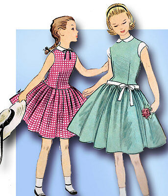 1950s Vintage Mccalls Sewing Pattern 3279 Little Girls Party Dress