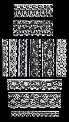 Antique DIY Net Rachel Crochet Lace Trimming Bridal Wedding 35mm Wide M6492