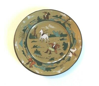 "BUFFALO POTTERY DELDARE WARE ""FALLOWFIELD HUNT"" SERIES, ARTIST SIGNED, c. 1908"