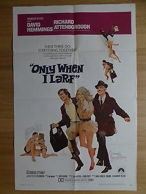 ONLY WHEN I LARF (1969) - original US 1 sheet film/movie poster, crime comedy