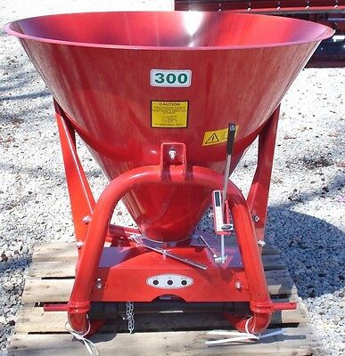 Farmline Seeder Broadcast Spreader PTO Driven 775lb Capacity 3 Point Mount