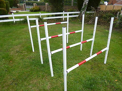johns agility training obedience fun equipment 100%  maintenance free jumps x 4