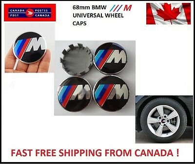 4 BMW Emblem M Logo Badge Hub Wheel Rim Center Cap 68mm E46,E90 M E60 Universal