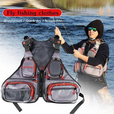 Quick-Dry Fishing Vest Mesh Breathable Waistcoat Photography Hunting Jacket
