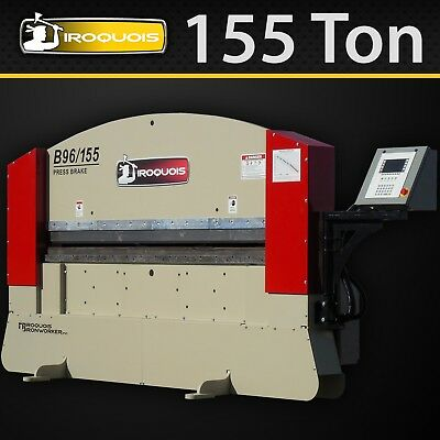 "96"" Iroquois Hydraulic Press Brake, 155Ton, USA!"