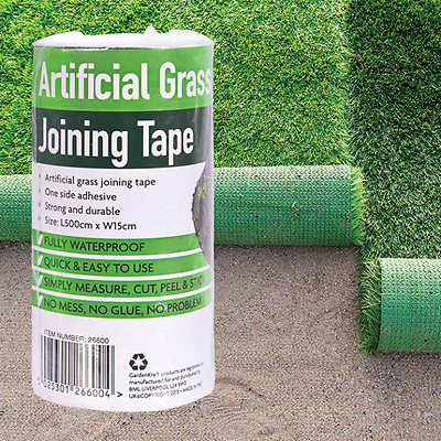 Artificial Grass Tape Self Adhesive Joining Fixing Jointing Turf Tape L5m W15cm