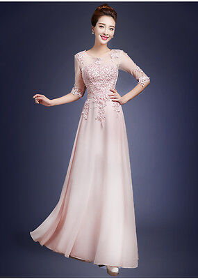 New Women Long Formal Evening Gown Bridesmaid Prom Dress Wedding Party Dress