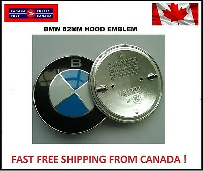 BMW Hood/Trunk Emblem Car Chrome Front OEM Size Badge Logo 82mm 2 Pins