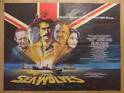 THE SEA WOLVES (1980) - original UK quad film/movie poster, Roger Moore, war,ww2
