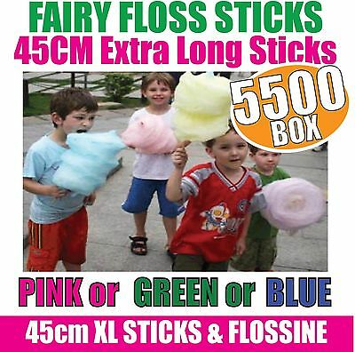 Fairy Floss Sticks x 5500 - SUPER X-LARGE - 450mm long with Flossine FOOD GRADE