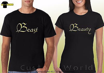 Beauty and Beast Shirts Couple Shirts Beauty Beast Love Matching His Hers Tshirt