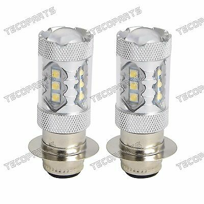 2PCS Super Cool White LED Headlights Bulbs 80W for Kawasaki KLF/KLX 250/300, KAF
