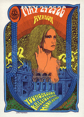 FD # 120-1 Youngbloods Hour Glass Family Dog Avalon Ballroom 1968 Poster FD120