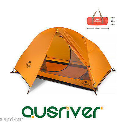 New Light Single Silicone Nylon Double Layer Camping Tent Hiking Outdoor Cycling