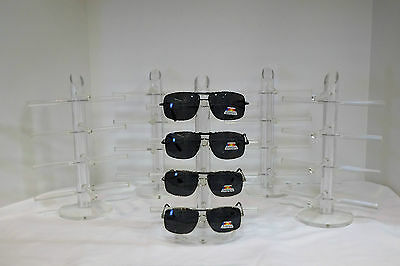 Clear Acrylic Sunglasses Eyeglass Counter Display Stand for 4 pairs Lot/5 units