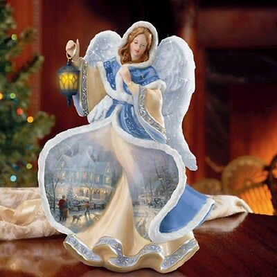 Angel of Light Winter Angels of Light by Thomas Kinkade Bradford Exchange