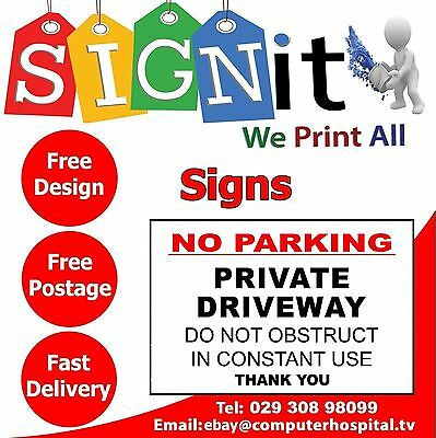 No Parking Private Driveway Plastic Correx, Aluminium Or Sticker Sign - 0070