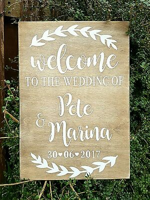 Personalised Wedding Sign Welcome To The Wedding