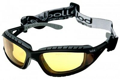 Bolle Tracker II Yellow Safety Glasses Goggles Anti Mist & Scratch FREE Bag