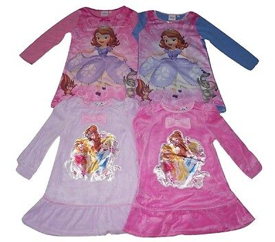 Girls Nightie Pyjamas Disney Princess & Sofia Long Sleeved 2-6 Years