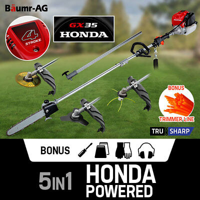 HONDA POWERED Pole Chainsaw - Multi Tool Saw Snipper Brush 4-Stroke Petrol GX35