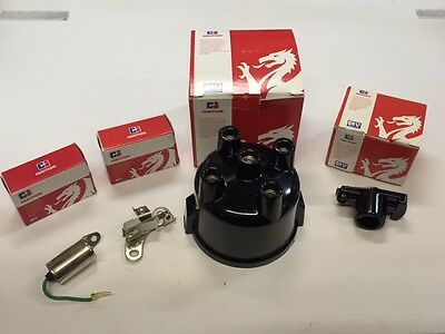 Ford OHC Distributor cap,Points,Condenser,Rotor arm 1.6 2.0 Capri Cortina..