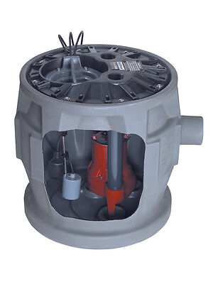 Liberty Pumps Complete Sewage Package, 1/2 HP, 115V, 41 Gallon Basin - P382LE51
