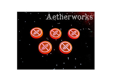 New Aetherworks No Fire Tokens Fluorescent Red 10 Pack Daily Gaming Acessory