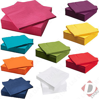 IKEA Fantastisk 3 Ply Table Serviettes. Disposable Paper Party / Wedding Napkins