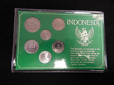 Indonesia 6 coin Set Uncirculated