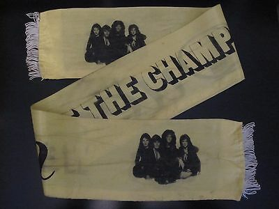 QUEEN  :  ' We Are The Champions ' Vintage 1977 Video / Concert / Tour Scarf