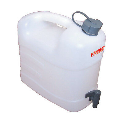 Kennedy Jerry Can Water Container Food Grade Plastic, With Tap 10Ltr