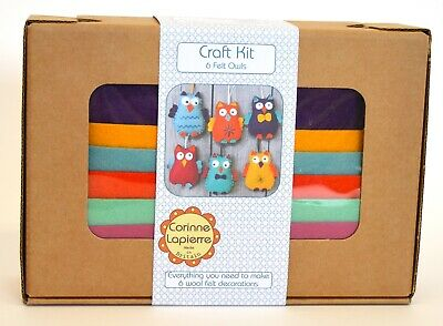 Happy Owls Felt Craft Kit by Corinne Lapierre