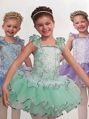 IN STOCK Pretty Mint Sequin Ballet Tutu Pageant Dress Dance Costume Child Large