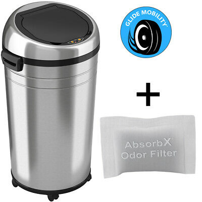 18 Gallon/ 68 Liter Touchless Sensor Automatic stainless steel Trash Can Kitchen