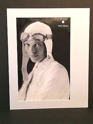 Amelia Earhart Apple Think Different  Series Black and White Poster 11x17