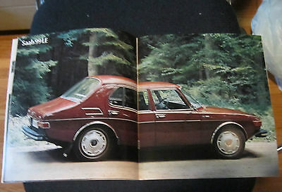 Saab 99 Le/Saab 99 EMS Sweden  Original Sale Brochure English 24 pages 10 by 9