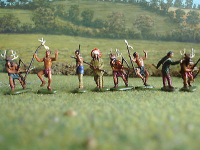 Imex Early America Indian hunting party 1:72 painted
