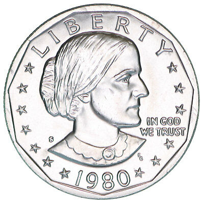 1980 S Susan B Anthony BU Dollar US Mint Coin