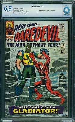 Daredevil #18 (CBCS 6.5 FN+) (Marvel 1966) 1st Appearance of Gladiator! Not CGC