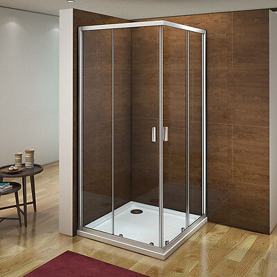 Shower Enclosure Corner Entry Sliding Walk In Glass Cubicle Screen Door Cubicle