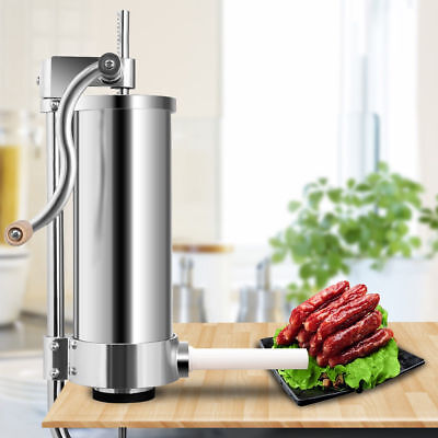 3L Stainless Steel Vertical Sausage Stuffer Meat Maker Filler Commercial New
