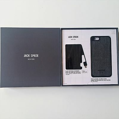 e05eeea634 Jack Spade New York Power Bank Gift Set Gray iPhone 6 6s Brand NEW Sealed