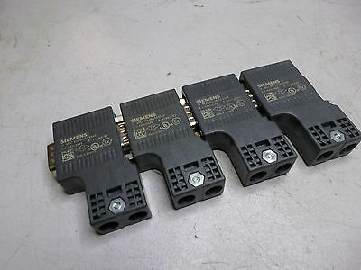 SIEMENS PROFIBUS CONNECTOR -- Qty of 4 -- 6ES7 972-0BB52-0XA0 - Qty Available