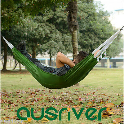 Portable Single/Double Hammock Swing Outdoor Camping Hiking Off Ground Travel