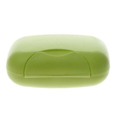 Green Leakproof Travel Plastic Soap Case Box Holder Dish Container