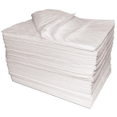 50 x Premium oil absorbent pads oil fuel soak spill dry mats, spill protection