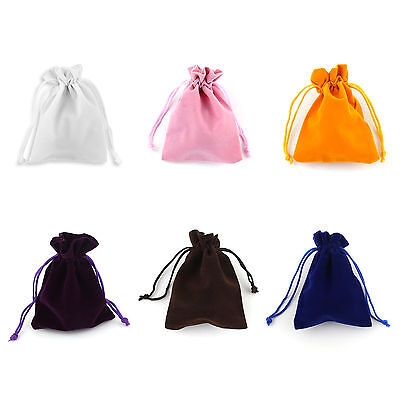 Christmas Velvet Jewellery Drawstring Gift Bag Pouches Jewelry Bags x10